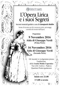 Locandina - L'Opera Lirica e i suoi Segreti - l'Aida di Giuseppe Verdi